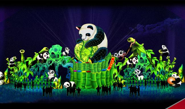 泥塑作品图片动物熊猫